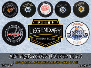 Autographed Hockey Puck - '19-'20 Edition Series 1