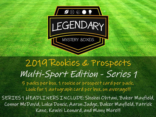 2019 Rookies Prospects Multi Sport Edition Series 1 Hobby Box