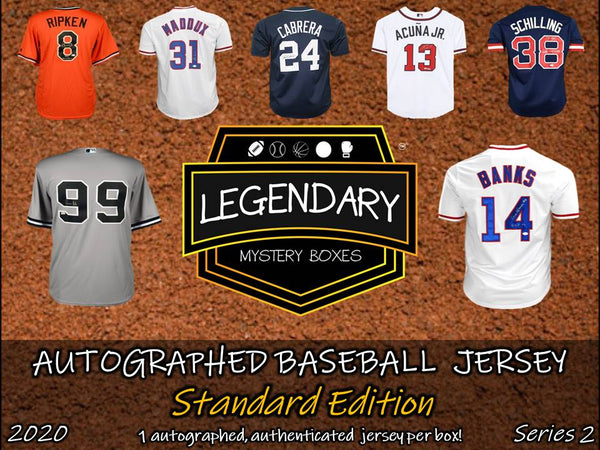 Autographed Baseball Jersey - Standard Edition 2020 Series 2 (5-BOX CASE)