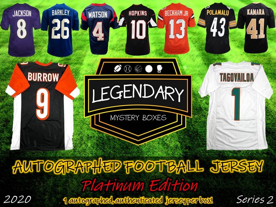PRE-ORDER: Autographed Football Jersey - Platinum Edition 2020 Series 2