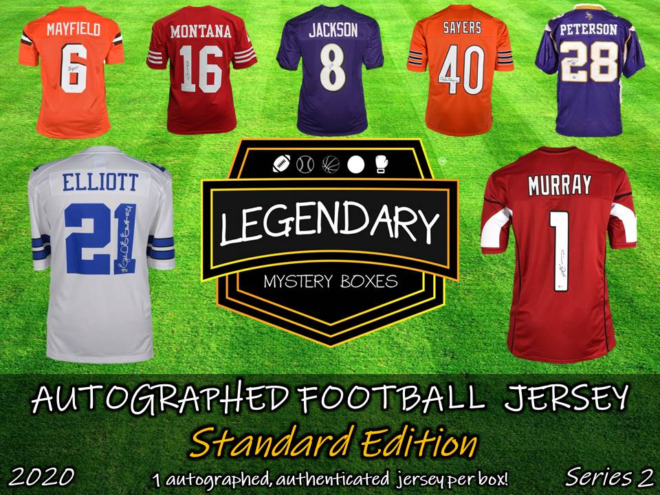 Autographed Football Jersey - Standard Edition 2020 Series 2 (5-BOX CASE)