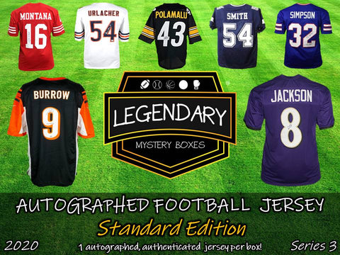 Autographed Football Jersey - Standard Edition 2020 Series 3 (5-BOX CASE)