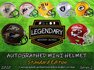 Autographed Mini Helmet - Standard Edition 2020 Series 2 - 8 BOX CASE