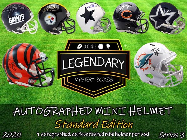 Autographed Mini Helmet - Standard Edition 2020 Series 3 (8-BOX CASE)
