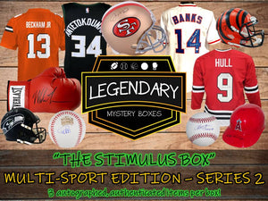 THE STIMULUS BOX: Multi-Sport Edition Series 2 - 3 ITEMS! $350+ Retail Value Per Box!
