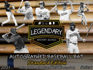 SHIPS 5/15: Autographed Baseball Bat - Standard Edition 2021 Series 1