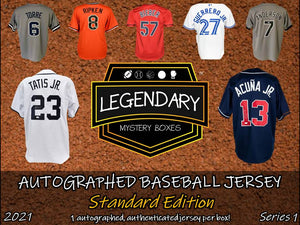 PRE-ORDER: Autographed Baseball Jersey - Standard Edition 2021 Series 1