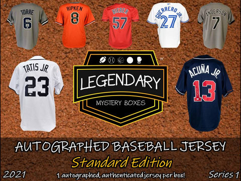 PRE-ORDER: Autographed Baseball Jersey - Standard Edition 2021 Series 1 (5-BOX CASE)