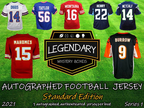 Autographed Football Jersey - Standard Edition 2021 Series 1 - ONLY 100 BOXES!