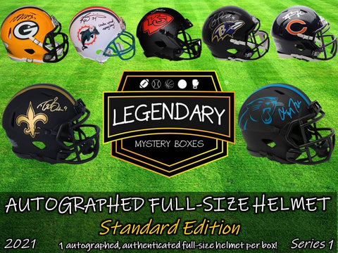 Autographed Full-Size Helmet - Standard Edition 2021 Series 1 (4-BOX CASE)