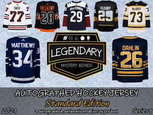 Autographed Hockey Jersey - Standard Edition 2021 Series 1 (5-BOX CASE)