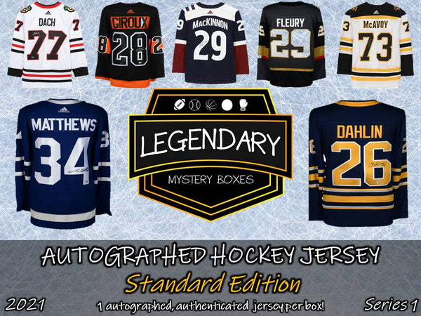 PRE-ORDER: Autographed Hockey Jersey - Standard Edition 2021 Series 1 (5-BOX CASE)