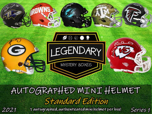 PRE-ORDER: Autographed Mini Helmet - Standard Edition 2021 Series 1 - ONLY 100 BOXES!