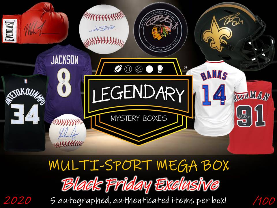 PRE-ORDER: BLACK FRIDAY 2020 MULTI-SPORT MEGA BOX - 5 ITEMS + $2500 GIFT CARD GIVEAWAY!