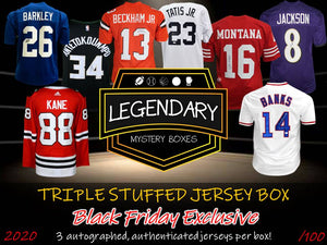 PRE-ORDER: BLACK FRIDAY 2020 TRIPLE STUFFED JERSEY BOX - 3 JERSEYS + $1500 GIFT CARD GIVEAWAY!