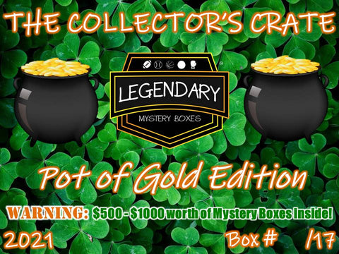 2021 THE COLLECTOR'S CRATE - POT OF GOLD EDITION: $500 - $1000 VALUE PER CRATE!