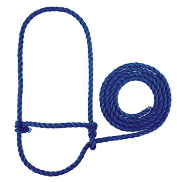 Poly Rope Cattle Halters - Solid Colours - Pattern Colours