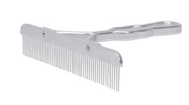 Blunt Tooth Comb with Aluminum Handle and Replaceable Stainless Steel Blade