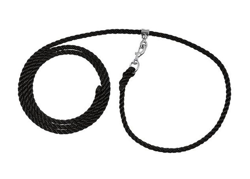 Deluxe Livestock Adjustable Poly Neck Rope, Black