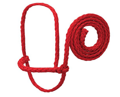 Poly Rope Sheep Halter, Red