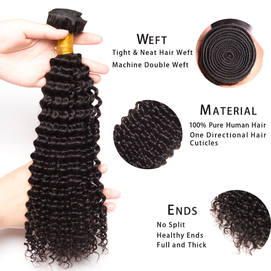 Brazilian Kinky Curly Human Hair 3 Bundles/Lot