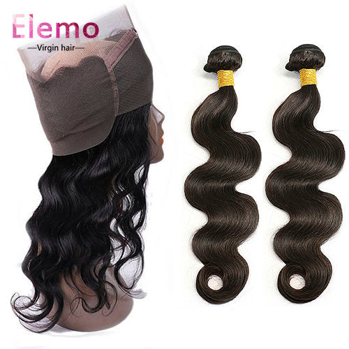 Body Wave 360 Lace Frontal with 2 Bundles