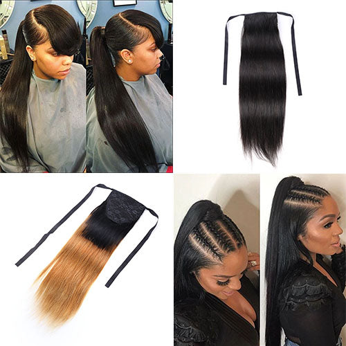 2 Colors 4 Styles Sleek Ponytail Easy to Install