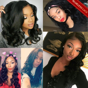 loose wave lace closure wig