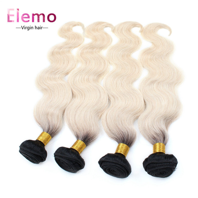 Elemo 4Bundles/lot Body Wave T1B/613# Blonde