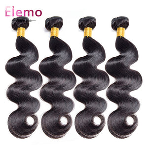 Indian Body Wave Virgin Hair Bundles 4PCS