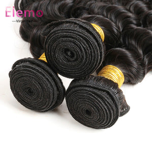 Malaysian Deep Wave Human Hair 3 Bundles/Lot