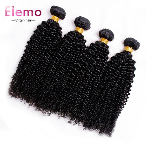 Peruvian Kinky Curly Virgin Hair Bundles 4PCS/Lot