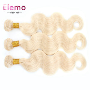 Elemo 613 Blonde Body Wave Human Hair 3Bundles/lot
