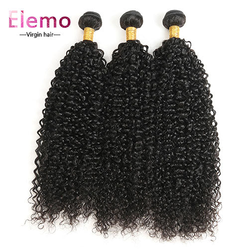 Malaysian Virgin Hair Jerry Curly 3 Bundles/lot