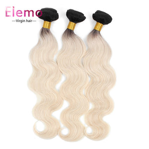 Elemo Body Wave Bundles T1B/613# Blonde Hair