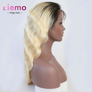 1B / 613 Blonde Body Wave Full Lace Wig Wigs