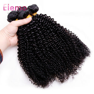 Malaysian Kinky Curly Hair 4 Bundles/lot