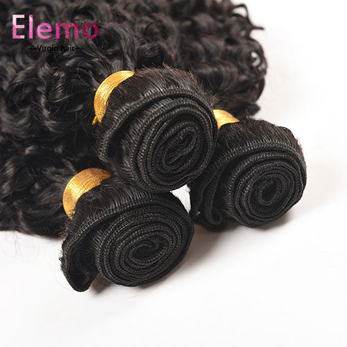 Brazilian Jerry Curl Human Hair 4 Bundles/Lot