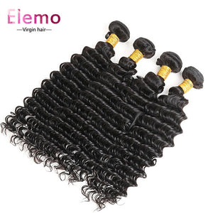 4 Bundles/Lot Brazilian Deep Wave Human Hair