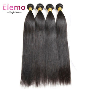 Indian Straight Human Hair 4 Bundles/Lot