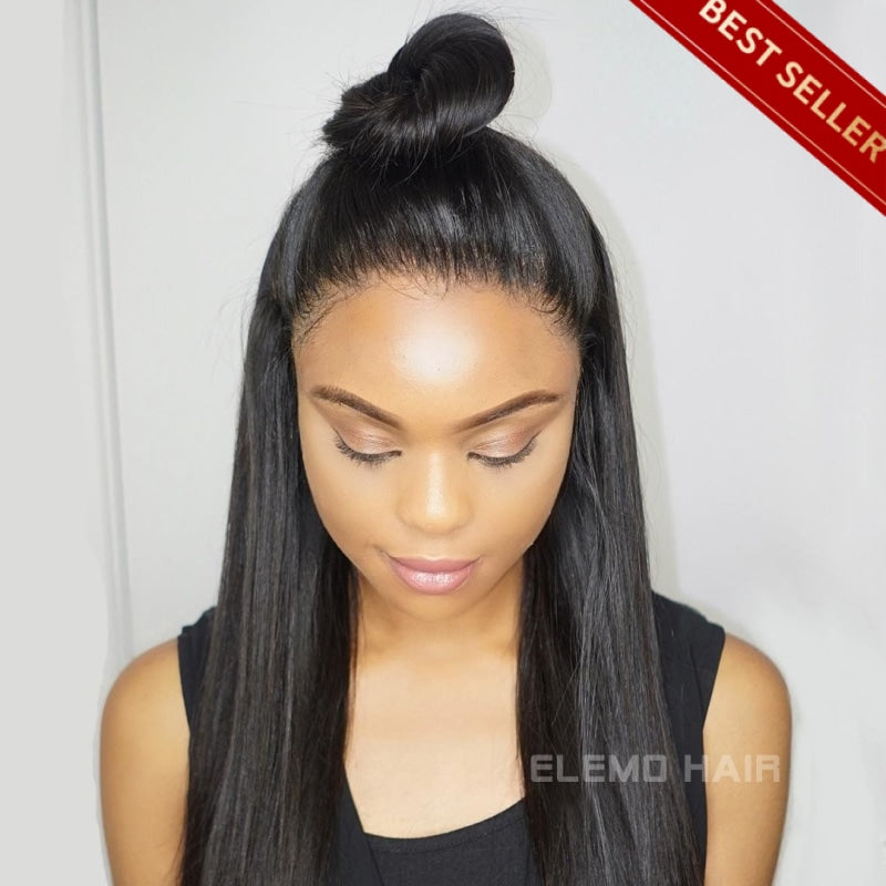 250% Density Straight Hair 360 Lace Frontal Wig Virgin