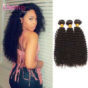 Peruvian Kinky Curly Virgin Hair Bundles 3PCS/Lot