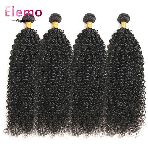 Malaysian Jerry Curl Hair 4 Bundles/Lot