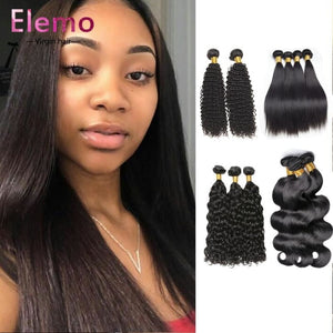 3 Bundles+Frontal Indian Hair All Textures Virgin