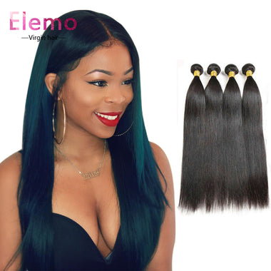 100% Malaysian Straight Hair 4 Bundles/Lot