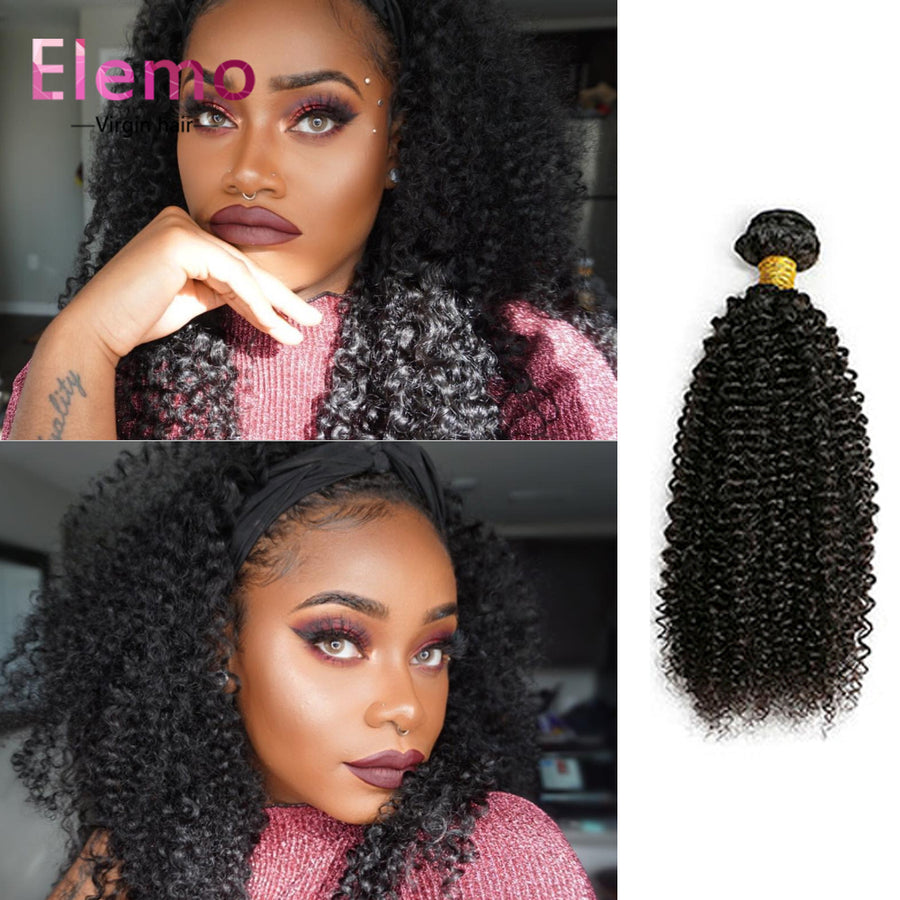 Indian Kinky Curly Human Hair 4 PCS/Lot