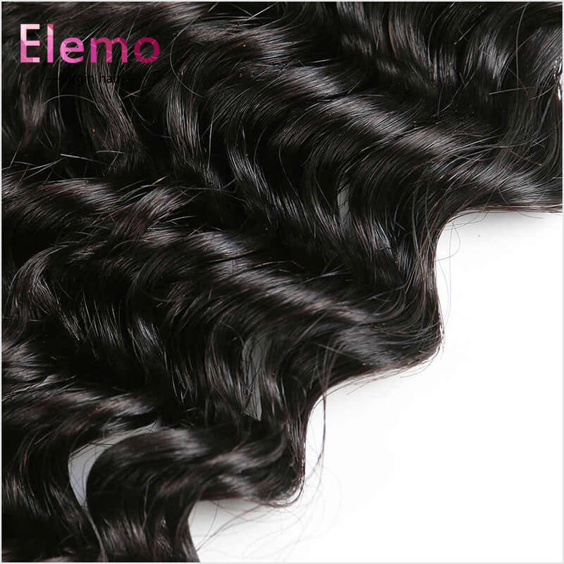 Deep Wave 5×5 Lace Closure Free Part Human Hair Closure With Baby Hair