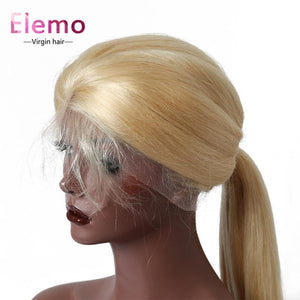 613 Blonde 360 Frontal Straight Human Hair Wig Virgin