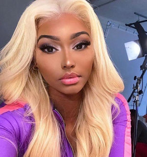 613 Blonde Straight Hair Full Lace Wig Wigs