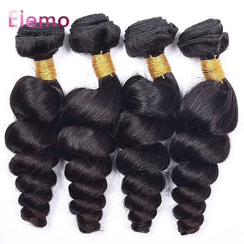 Malaysian Loose Wave Human Hair 4 Bundles/Lot